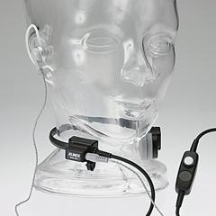 咽喉イヤホンマイク
